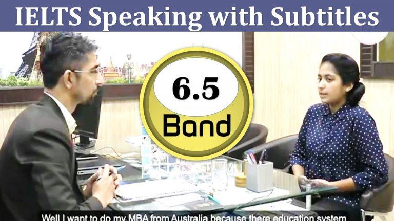 Bhavna Band 6.5 IELTS Speaking Test with Subtitles