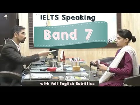 Shivani Band 7.0 IELTS Interview with Subtitles