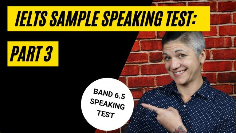 REAL IELTS Speaking Test: Band 6.5 on Part 3