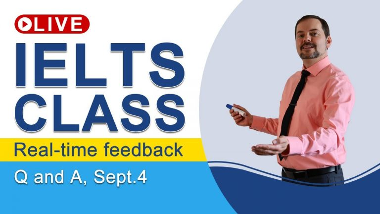 IELTS Live - Questions and Answers - Going for a Band 9