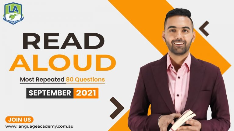 PTE Speaking Read Aloud | September 2021 Exam Prediction | Language Academy PTE NAATI IELTS Experts